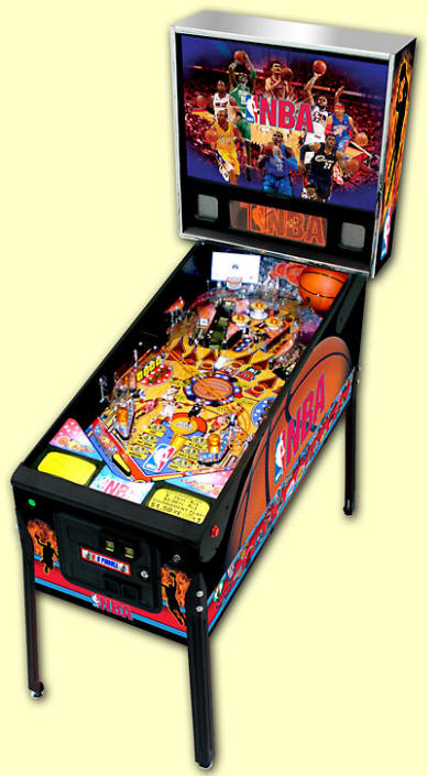 NBA Pinball Machine From Stern Pinball - Cabinet Picture