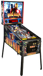Iron Man Vault Edition Pinball Machine From Stern