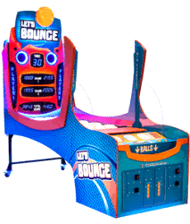 Let's Bounce Arcade Ball Throwing Ticket Redemption Game From LAI Games