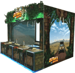 Outback Hunter / Dino Invasion Video Arcade Shooting Gallery Game From UNIS