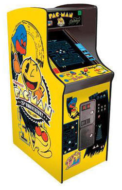 "Pacman / Galaga / Ms. Pac Man 25th Anniversary Limited Edition Video Arcade Game - 19"" Caberet Commercial Edition / Coin Operated or Free Play Model From Namco Bandai America"