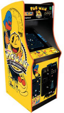 "Pacman / Galaga / Ms. Pac Man 25th Anniversary Limited Edition Video Arcade Game - 25""  Upright Commercial Edition / Coin Operated Model From Namco Bandai America"