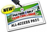 GA Tour Golf All Access Pass Video Arcade Game Logo From Global VR and EA Sports