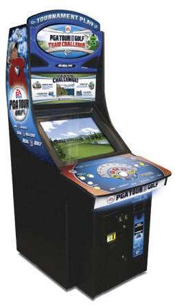 PGA Tour Golf Team Challenge All Access Pass Video Arcade Game From Global VR and EA Sports