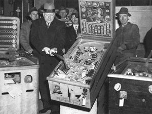 Pinball Machines Being Smashed In NYC, Circa 1942