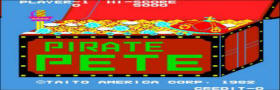 Pirate Pete Video Game - Taito 1982