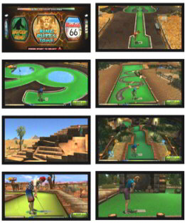 Power Putt LIVE 2012 Mini Golfing Video Arcade Game Screenshots