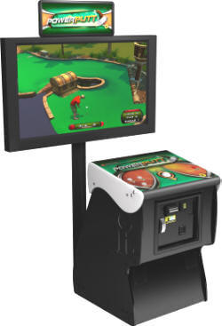 Power Putt Golf Video Arcade Game Factory Pedestal Showpiece Cabinet Model |  PowerPutt Miniature Golf Game From Incredible Technologies / IT / ITS