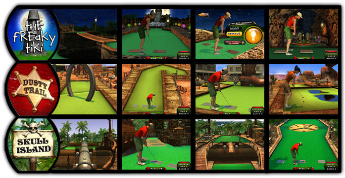 PowerPutt Miniature Golf VIdeo Game 2009 Golf Course Screenshots