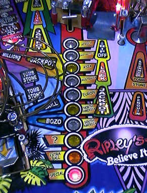 Ripley's Believe It or Not Pinball Machine - Mid Right Playfield Picture From BMI Gaming - 1-800-746-2255