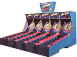 Skeeball X-Treme / Xtreme Alley Roller Bowling Game Arcade Machine By Skeeball From BMI Gaming
