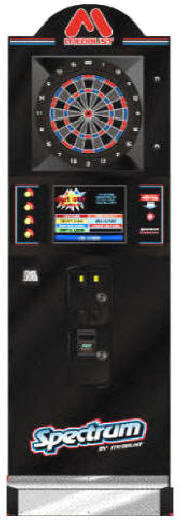 Medalist Spectrum Omni Dart Board / Electronic Bar Dartboard Machine Commercial Coin Operated Darts By Medalist MarketingOperated, DBA / Dollar Bill Acceptor or Free Play