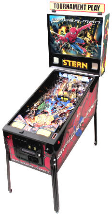 Spiderman Pinball Machine | Worldwide Spider-Man Pinball Machine Delivery From BMI Gaming