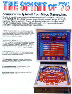Spirit Of 76 Addams Family Pinball Machine From Micro Games