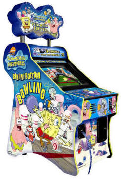 Spongebob Squareparts Bikini Bottom Bowling Ticket Redemption Video Arcade Game By Chicago Gaming Company