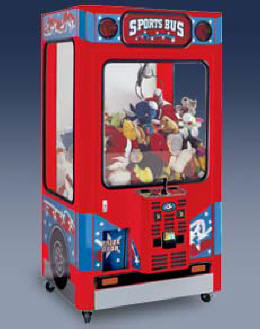 Sports Bus Crane Prize / Claw / Crane Redemption Game From ICE / Innovative Concepts In Entertainment