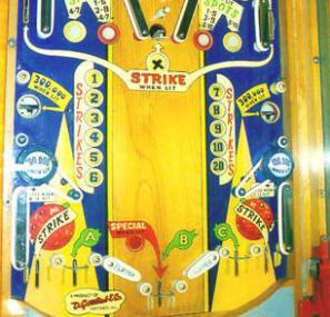 Spot Bowler Pinball Machine Playfield From D. Gottlieb