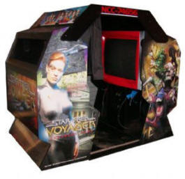 Star Trek Voyager Deluxe Video Arcade Game By Team Play - Deluxe Sitdown Coin Operated