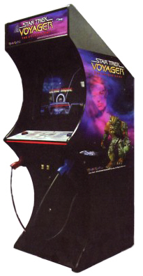 Star Trek Voyager Video Arcade Game By Team Play - Upright Coin Operated