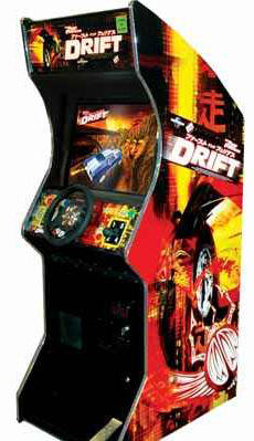 The Fast and The Furious : Tokyo Drift Upright Video Arcade Game From Raw Thrills