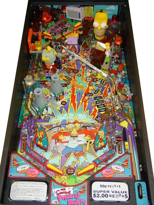 The Simpsons Pinball Party Pinball Machine - Playfield Picture
