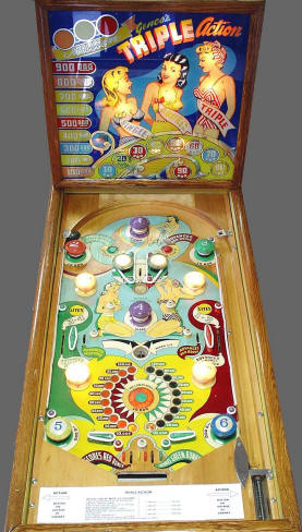 Triple Action Pinball Machine From Genco Mfg