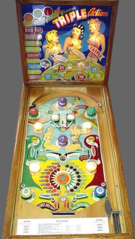 Triple Action Pinball Machine From Genco Mfg