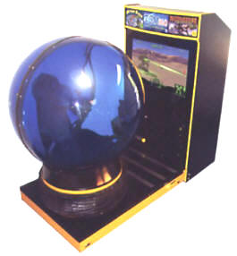 "Tsumo Deluxe 39"" Motion Simulator Video Arcade Game With Dome From Tsunami Visual Technologies"