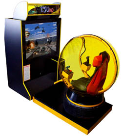 "Tsumo Deluxe 50"" Motion Simulator Video Arcade Game With Bubble From Tsunami Visual Technologies"