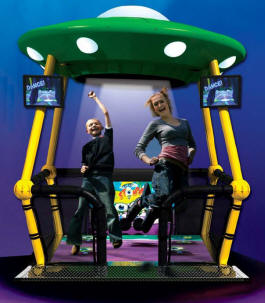 UFO Stomper Multiplayer Interactive Exer Fitness Video Arcade Dance Machine Game By Trio Tech Amusements