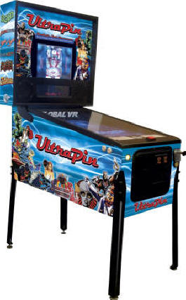 UltraPin Digital Video Pinball Machine From Global VR and UltraCade Technologies