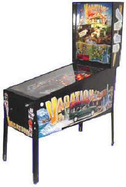 Vacation American Pinball Machine From Chicago Gaming | From BMI Gaming / Arcades Direct: 1-866-527-1362