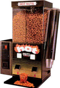 Hot Nuts Snack Vending Machine  From BMI Gaming