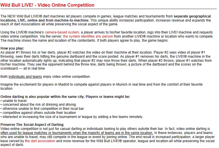 Wild Bull Darts - Wild Bull LIVE Online Global Video Competitions