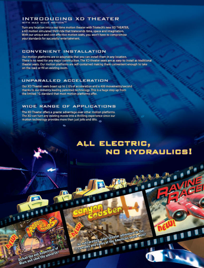 XD Theater Motion Simulator Theater Ride Brochure - Page 2