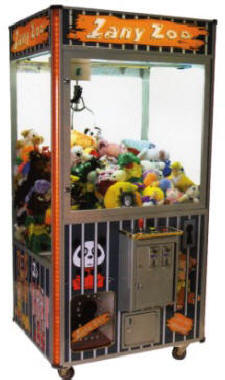 Zany Zoo Plush Animal Crane Claw Redemption Game From Coastal Amusements