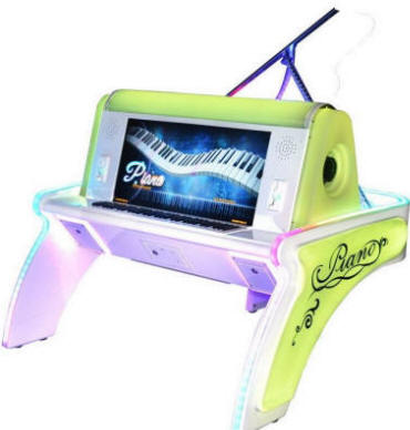 Dream Of Piano Music Rhythm Video Arcade Game / Dreaming Piano Arcade Machine From Sheng Hua Technology