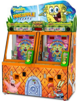 SpongeBob Pineapple Arcade Quick Coin Ticket Redemption Game From Andamiro