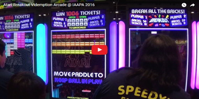 Atari Breakout Arcade By Coastal Amusements - Video Redemption Arcade Game - BOSA Awards 2017 Video Clip