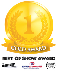 Gold Medal Award - BOSA / Best Of Show Arcade Machine Awards Logo - 2017