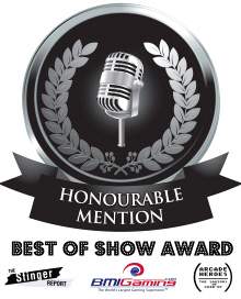 Honorable Mention Award- BOSA / Best Of Show Arcade Machine Awards Logo - 2017