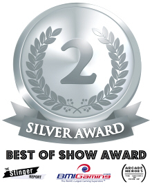 Silver Medal Award - BOSA / Best Of Show Arcade Machine Awards Logo - 2017