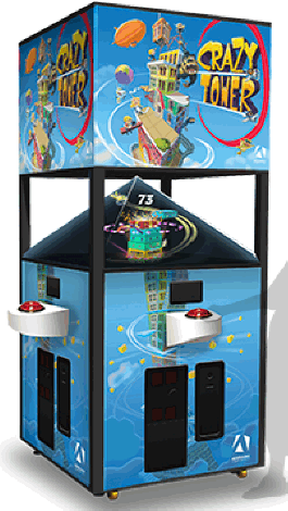 CRAZY TOWER ARCADE BY ADRENALINE AMUSEMENTS - 2017 BOSA GOLD MEDAL WINNER - VIDEMPTION ARCADE GAMES - BEST OF SHOW ARCADE MACHINE AWARDS