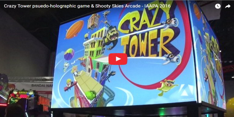 Crazy Tower Arcade By Adrenaline Amusements - Holographic Video Redemption Arcade Game - BOSA Awards 2017 Video Clip