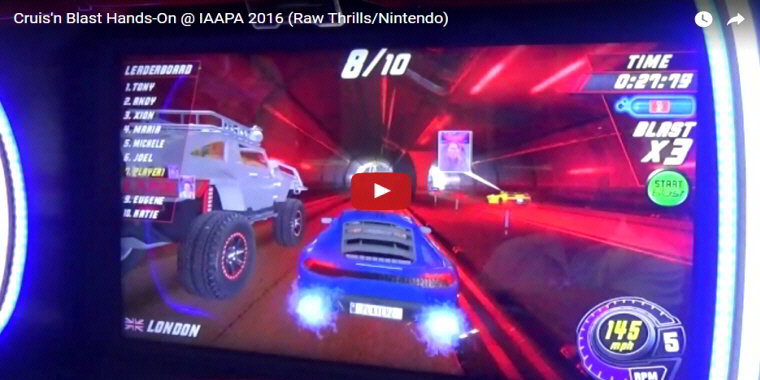 Crusin Blast Arcade - Video Arcade Game By Raw Thrills - BOSA Awards 2017 Video Clip
