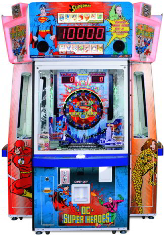 DC SUPERHEROES ARCADE - 2017 BOSA HONORABLE MENTION AWARD - REDEMPTION ARCADE GAMES - BEST OF SHOW ARCADE MACHINE AWARDS