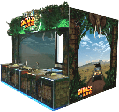 OUTBACK HUNTER /  DINO INVASION ARCADE BY UNIS - 2017 BOSA HONORABLE MENTION AWARD - VIDEO ARCADE GAMES - BEST OF SHOW ARCADE AWARDS