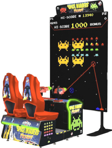 SPACE INVADERS FRENZY ARCADE BY RAW THRILLS 2017 BOSA SILVER MEDAL WINNER - VIDEMPTION ARCADE GAMES - BEST OF SHOW ARCADE MACHINE AWARDS