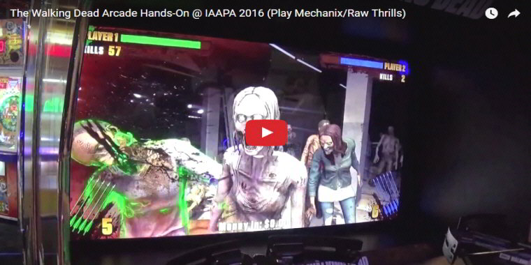 The Walking Dead Arcade - Video Arcade Game From Team Play - BOSA Awards 2017 Video Clip