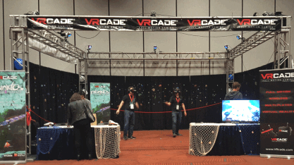 VRCADE BY VRSTUDIOS, UNIS, CJ4DPLEX - 2017 BOSA GOLD MEDAL WINNER - VR / VIRTUAL REALITY ARCADE GAMES / MOTION SIMULATORS - BEST OF SHOW ARCADE AWARDS